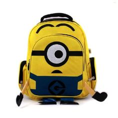 2d59501f7e minion bags 2016 backpack Children School Bags for teenage boy bolsas  mochilas feminina cartoon bag nylon printing backpack kids