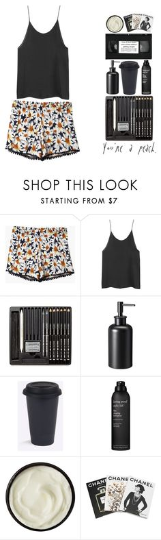 """""""you're a peach."""" by toripete ❤ liked on Polyvore featuring Threshold, Living Proof, Josie Maran, Assouline Publishing, Summer, black, Daisy, Chanel and coffee"""