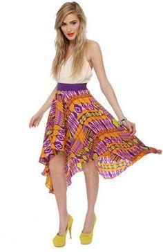 #Lulus                    #Skirt                    #Gorgeous #Print #Skirt #High #Skirt #Purple #Skirt #$40.00                   Gorgeous Print Skirt - High Low Skirt - Purple Skirt - $40.00                                           http://www.seapai.com/product.aspx?PID=1811424