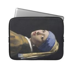 Johannes Vermeer - Girl with a Pearl Earring Computer Sleeves