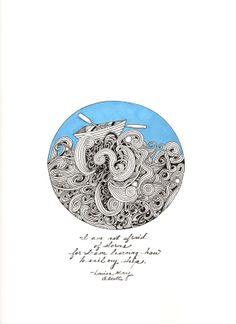Ocean waves tattoo
