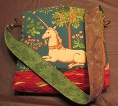 Unicorn Tapestry Satchel on Etsy, $110.00