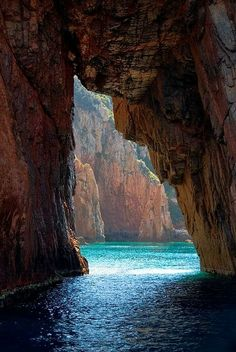Sea Cave, Isle of Corsica, Italy! I really want to take a trip to Italy after I graduate! Places Around The World, Oh The Places You'll Go, Places To Travel, Around The Worlds, Beautiful Places To Visit, Beautiful World, Amazing Places, Cool Places To Visit, Magic Places