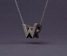 3D Printed Typographic Monogram Jewelry in style fashion  Category