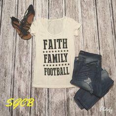 """""""Faith, Family, Football"""" Tee"""