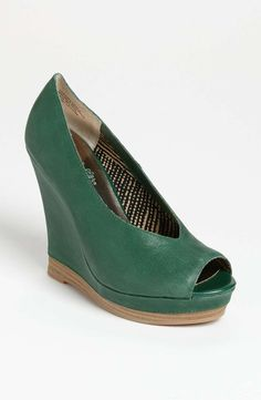 Seychelles 'Storytelling' Pump #womens #leather #pumps #green #shoes #wedge #heels #wantering