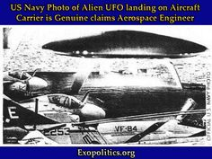 US Navy Photo of Alien UFO landing on Aircraft Carrier is Genuine claims Aerospace Engineer  Written by Dr Michael Salla on May 11, 2016