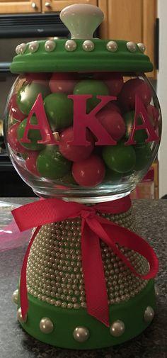 Alpha Kappa Alpha Sorority clay pot gumball machine!
