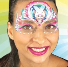 Bling Bunny Princess Design Video by Melissa Munn Princess Face Painting, Face Painting Tips, Face Painting Designs, Body Painting, Face Paintings, Paint Designs, Black Face Paint, Cool Face Paint, Easter Face Paint