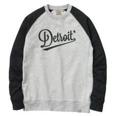 Carhartt League Detroit sweatshirt bi-colore grey heather black sweat crew 75,00 € #carhartt #carharttwip #carharttworkinprogress #skate #skateboard #skateboarding #streetshop #skateshop @PLAY Skateshop
