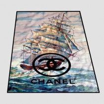 Ancient ship logo chanel Blanket