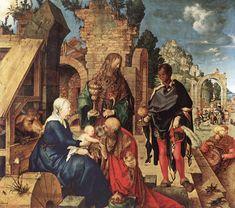 Albrecht Dürer: Aanbidding der wijzen (olie)