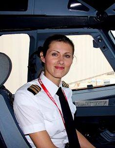 Polish pilot Anna Jastrzebska. #Female #Pilot #Polish