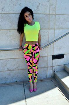 Neon Colors in Fashion | neon colors