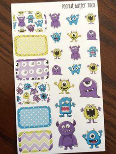 Monster Sampler Planner Stickers