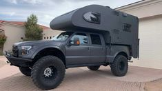 Jurassic MegaRaptor Overlander Has No Equal In Off-Road Camping Truck Bed Camping, Off Road Camping, Pickup Camper, Pickup Trucks, Lifted Trucks, Ford Trucks, Overland Trailer, Michelin Tires, New Motorcycles