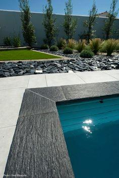 #piscine #Caron #beton #constructeur #fabricant #pierres #naturelles #dallage #cailloux #herbes #eau