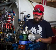 Ray working on the piston pump technology