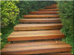 Garden stairs - Wood in the garden! Ildáre - Garden borders ----------------- Acacia planks Bicicle storage Furniture Sanded acacia poles Ga...