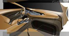 Cadillac Elmiraj Concept - Interior Design Sketch