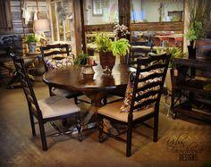 Looking for a Round Farm Table? We've gottcha covered! #FarmhouseCharm #UFD #urbanfarmhousedesigns