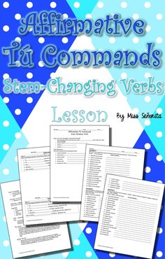 a lesson teaching affirmative tú commands with stem-changing verbs