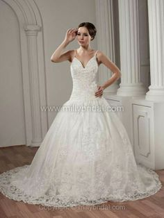 Ball Gown Wedding Dress at http://www.millybridal.com