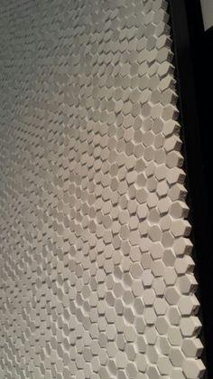 ADI Bathroom Excellence, pad. 29.  Il micro - mosaico Phenomenon di #Mutina (ci siete mancati, quest'anno in fiera)   Design Tokujin Yoshioka.  Anno 2011.  #Cersaie