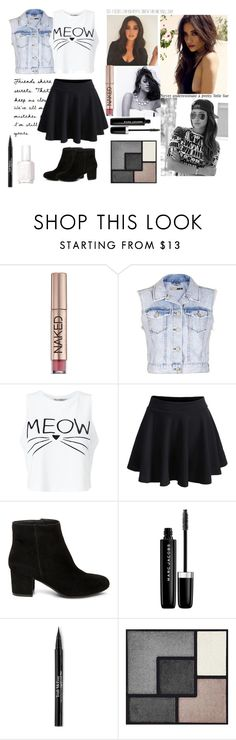 """Shay Mitchell: PLL"" by fmapplegate ❤ liked on Polyvore featuring Urban Decay, Topshop, Miss Selfridge, Steve Madden, Marc Jacobs, Trish McEvoy, Yves Saint Laurent and Essie"