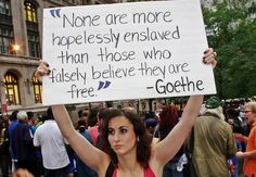 [Click Pic for Link] None are more hopelessly enslaved than those who falsely believe they are free! ~ Johann Wolfgang von Goethe #Millennials #Boomers #GenX #Teen @GOP @TheDemocrats #TEAPArty #OWS #P2 @MNGOP @MinnesotaDFL