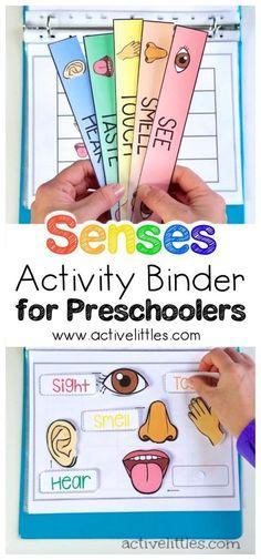 Senses Learning Activity Binder for Preschoolers and Kids - Active Littles