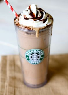 Skinny Starbucks Frappuccino Recipe (Dashing Dish)     Calories: 220 per shake  Weight Watcher Points Plus Value: 4 per shake  Nutrient Breakdown: 5 grams of fat, 6 grams of carbohydrate, 3 grams of sugar, 40 grams of protein per shake