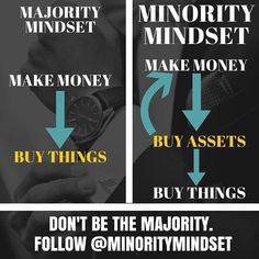 "Correct @minoritymindset  ""The rich buy assets. The poor only have expenses. The middle class buys liabilities they think are assets. The poor and the middle class work for money. The rich have money work for them."" - Robert Kiyosaki Double-tap if you agree and tag someone who needs to see this!  by secrets2success"