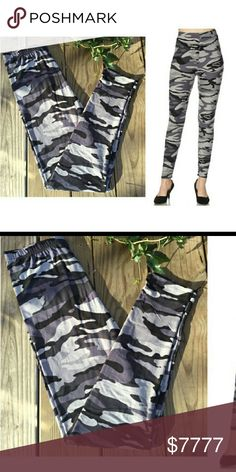 f9b9eb141b6 NEW ITEM! Super soft gray camo leggings WILL ARRIVE MONDAY 2 4 New High