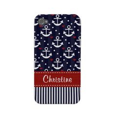 Anchor iPhone 4 4s Case Mate Cover Nautical Case-mate Iphone 4 Cases from Zazzle.com