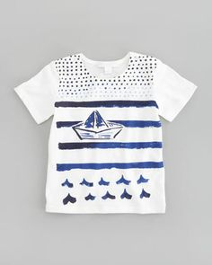 Sailboat Graphic Tee by Burberry at Neiman Marcus.