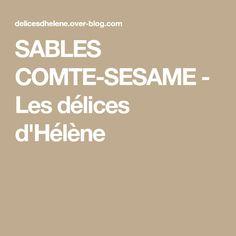 SABLES COMTE-SESAME - Les délices d'Hélène