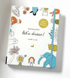 Illustration School: Let's Draw! (Includes Book and Sketch Pad): A Kit with Guided Book and Sketch Pad for Drawing Happy People, Cute Animals, and Plants and Small Creatures by Sachiko Umoto http://www.amazon.com/dp/1592539769/ref=cm_sw_r_pi_dp_Y8vVvb1YBAW2D