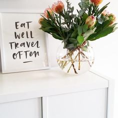 Eat Well Travel Often print.  Australian made stationery. By In the Daylight.
