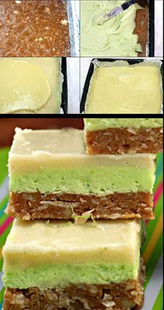 No-Bake White Chocolate Key Lime Bars with the most amazing Chewy Graham Cracker Coconut Macadamia Crust!