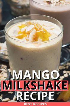 Mango Milkshake, Milkshake Recipes, Easy Drink Recipes, Good Food, Frozen, Pudding, Treats, Drinks, Sweet