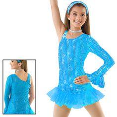 Skating Dance Costume Jazz Twirl Baton Tap 4703 Choice Yellow or Blue | eBay