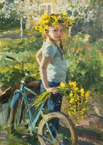 """""""This is My Home"""" by Vladimir Gusev, 2014, oil on canvas, 70x50 cm."""