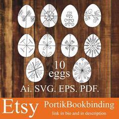 Bookbinding Portik (@portik_bookbinding) • Instagram-fényképek és -videók Egg Vector, Bookbinding, Easter Eggs, My Etsy Shop, Holiday Decor, Instagram