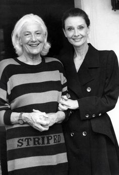 Audrey Hepburn with her dear friend Connie Wald at her home, Spring 1988. Scan by rareaudreyhepburn from the book The Audrey Hepburn Treasures