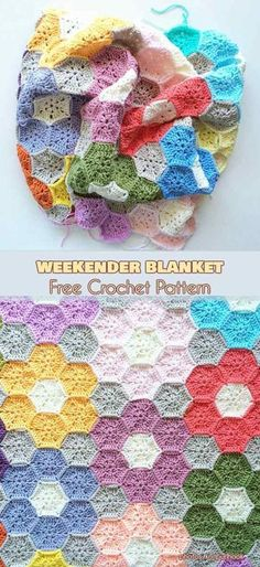 Transcendent Crochet a Solid Granny Square Ideas. Wonderful Crochet a Solid Granny Square Ideas That You Would Love. Crochet Afghans, Crochet Hexagon Blanket, Crochet Quilt, Crochet Squares, Crochet Motif, Hexagon Crochet Pattern, Crochet Blankets, Baby Blankets, Afghan Crochet Patterns