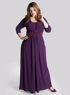 Yvonne Gown in Mulberry