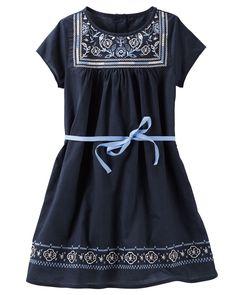 Kid Girl Embroidered Dress   OshKosh.com