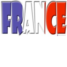 France Word Art   ... Store > Country- and Soccer Flags > France > Word Art Flag France