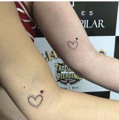 Foto Tatuagem Pequenas 124 Best Friend Tattoos, Sister Tattoos, Mini Tattoos, Small Tattoos, Piercing Tattoo, Piercings, Blessed Tattoos, Matching Tats, Neue Tattoos